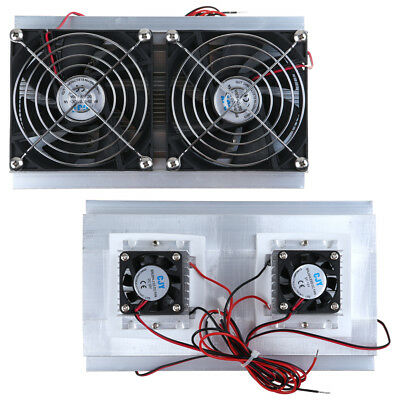 Thermoelectric Peltier Refrigeration Cooling System Kits Double Fan Cooler DIY