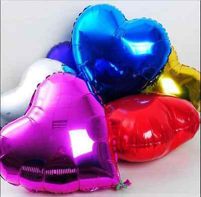 "Love Heart Helium Foil Balloon - Wedding Birthday Party Decor Balloon - 18""/45cm"