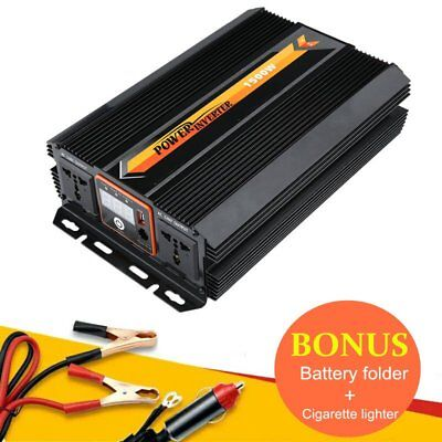 Sine Wave Power Inverter 1000W 1500W 12V-240V LCD Display For Toyoto SK@#