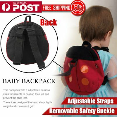 Baby Kids Cartoon Backpack Anti-lost Toddler Walking Safety Harness Strap DB