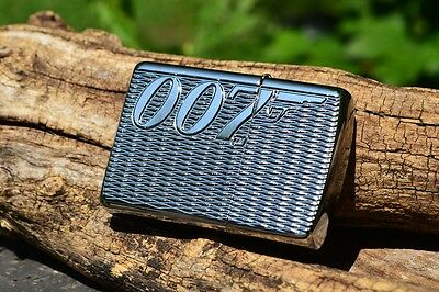 Zippo Lighter - James Bond 007 - Deep Carved Armor Case - High Polished Chrome