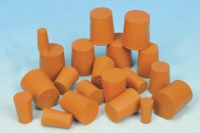 Natural Rubber Bungs in packs of 2, 5 and 10 from sizes 3mm to 33mm