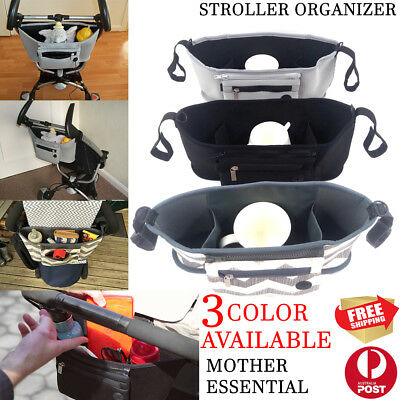 Pram Pushchair Stroller Accessories Buggy Mummy Bag Cup Bottle Holder Organiser