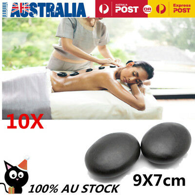 9x7cm Hot Stone Massage Basalt Stones Rock SPA Oiled Massager 10pcs