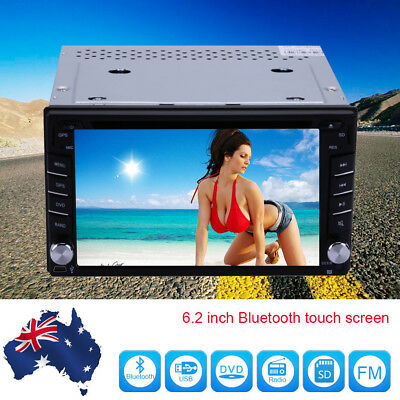"6.2"" Double 2Din Car Stereo CD DVD Player GPS Navi Bluetooth Touch FM Radio iPod"