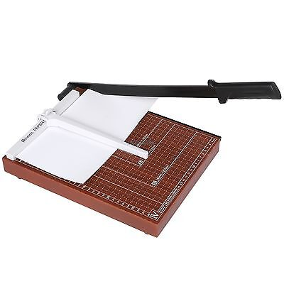 "12.7"" Paper Cutter A4To B7 Wood Base Guillotine Page Trimmer Blade Scrap Booking"
