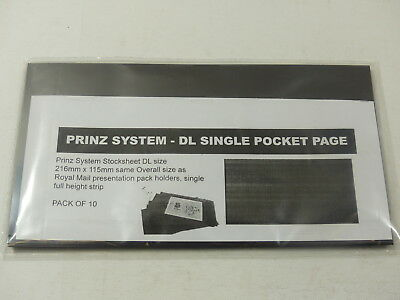 10 x Prinz large DL size stockcards 216 x 115mm - 1 strip same size as RM cards