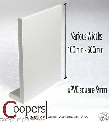 uPVC-plastic fascia & capping board or window sill cill - 2.5m in various widths