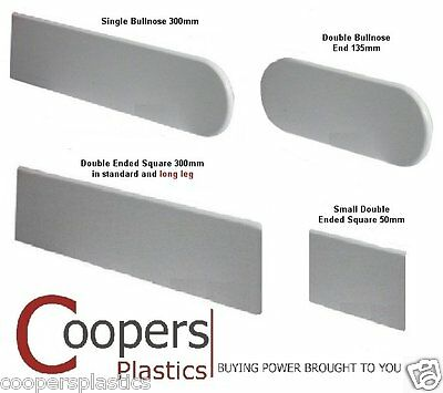 Plastic Window Sill / Cill End Caps - Bullnose (300mm) & Square End (300 & 50mm)