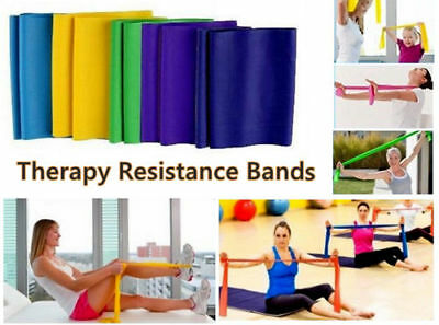 Yoga Therapy Resistance Rubber Stretch Band Strap for Exercises Workouts Fitness