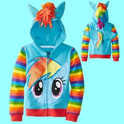 New Little Pony Girls Sweater Children Clothes Kids Jackets Coat Hoodies Unicorn