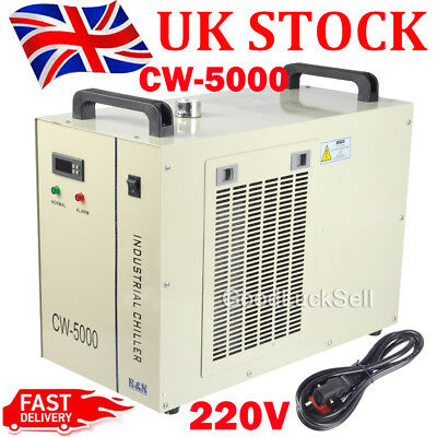 CW-5000 Industry Air Water Chiller CO2 Laser Engraving Cutting Machine UK FAST!