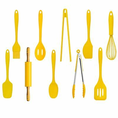 Zing Turner Yellow Flipper Thick Silicone Non Scratch Utensil For Non Stick Pans