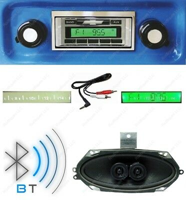 67-72 Chevy Truck Bluetooth Radio + Stereo Dash Speaker 630-BTD w/ AC