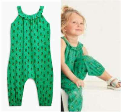 Girls Next Green Pineapple Playsuit Jumpsuit All In One Age 2-3 Years BNWT