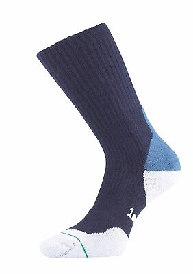 1000 Mile Fusion Walking Sock - Padded and Double Layer - Navy size Med and Lrg