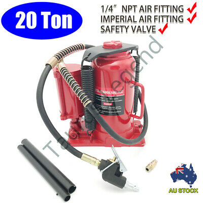 Heavy Duty 20 Ton 262-505mm Air & Manual Hydraulic Bottle Jack Car Van Truck