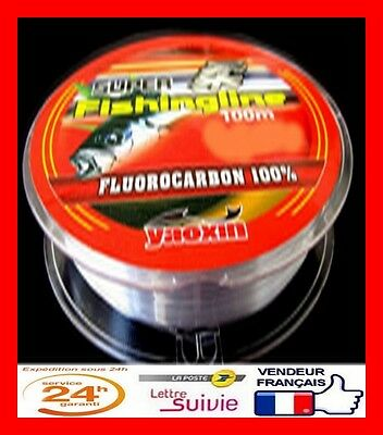 100% FLUOROCARBONE transparent -100 m - 0,20 mm - 7,90 kg