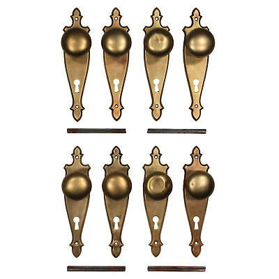Antique Colonial Revival Door Hardware Sets in Brass, 6 Sets Available NDKS347