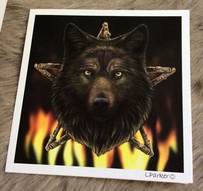Lisa Parker Greetings Cards -Wild Fire Wolf