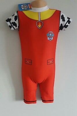 PAW PATROL BNWT Baby boys red uv swimsuit 50+ upf sun safe age 18-24 month