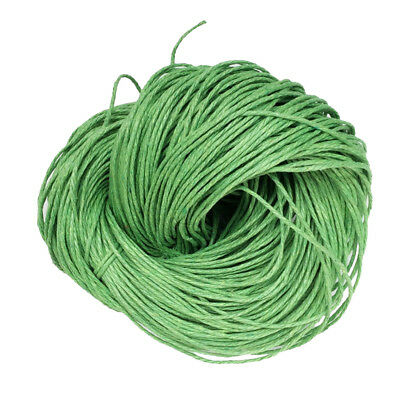 80m 1.5mm Waxed Cotton Bundle Cord String Thread Line Jewelry Making Green