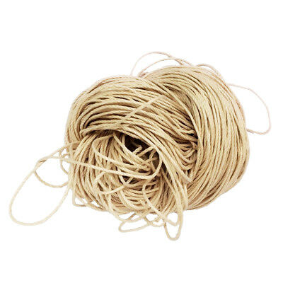 80m 1.5mm Waxed Cotton Bundle Cord String Thread Line Jewelry Making Beige