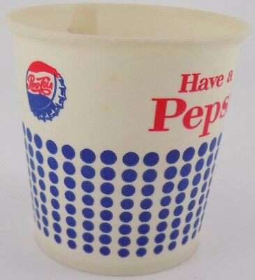 1960s Waxed Pepsi Sample Cup NEW OLD STOCK MINT by Solo