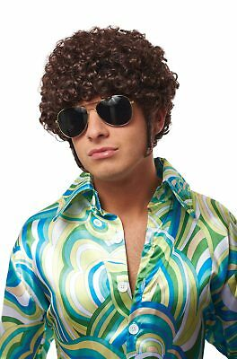 Brand New That 70's Guy Curly Wig (Brown)