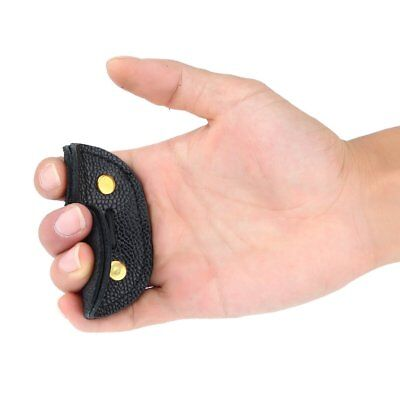 Cow Leather Archery Finger Guard Protection Pad Glove Tab Bow Shooting SA