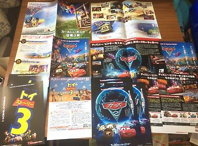 Disney Pixar Rare Japanese Poster Set - job lot - Cars / Toy Story etc