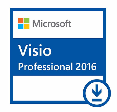 Microsoft Visio Professional 2016 32_64bit - Quick Delivery - 24 Hour Support