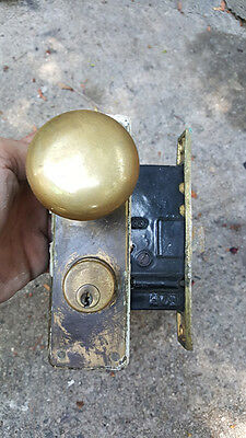 Vintage BRASS DOOR KNOB DOORKNOB Set Antique Door Handle Knobs METAL