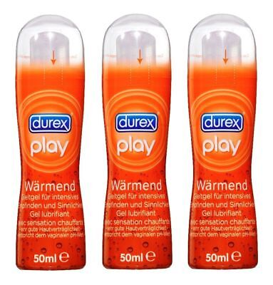 3x 50ml Durex Hair Play Réchauffant Lubrifiant Gel Intensif Erotisme Sexe