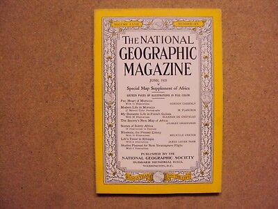 National Geographic June 1935 Morocco French Guinea Africa Rhodesia Ethiopia Ads