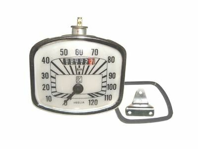 New Vintage Gs Veglia 0-120 Km/hr Speedometer For Vespa Spare Parts