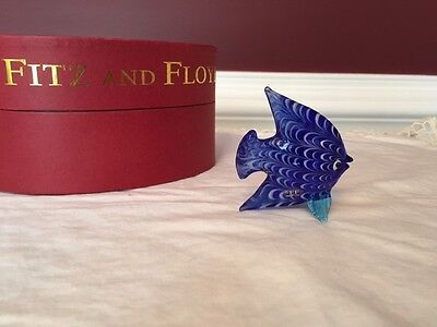 Fitz and Floyd Glass Menagerie Blue Angel Fish with box
