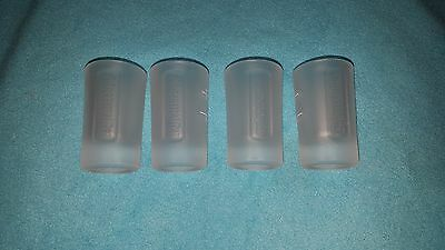 4 New Jagermeister Glass Shot Glasses 4 Cl With Box, Collectible