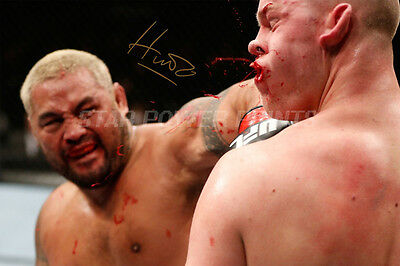 Mark Hunt Signed Photo Print Poster Art - 12X8 Inch -