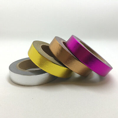 Washi Tape Solid Colour Foil You Choose 10Mm X 10Mtr Roll Scrap Plan Craft Wrap