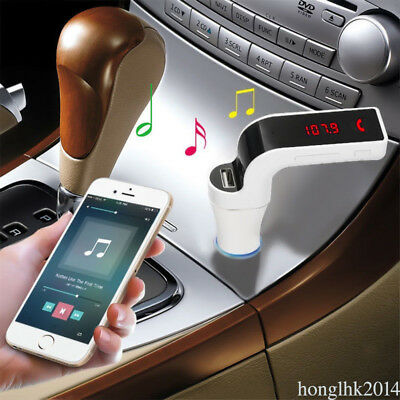 G7 Wireless Bluetooth Car Kit Transmetteur FM MP3 pour Smartphone