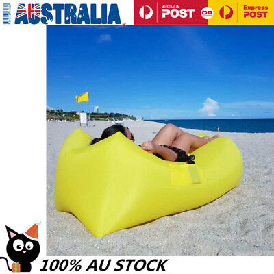 Inflatable Air Bag Sofa Lounge Sleeping Bag Camping Bed Outdoor Beach Couch AU