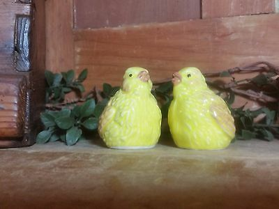 Vintage Antique Baby Chick salt and Pepper Shakers 1960's