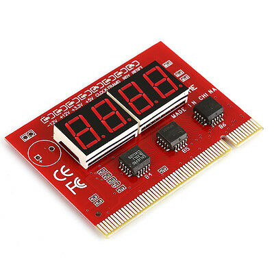 Diagnostic Tester Red LED Digit POST Analyzer Card PCI Motherboard Computer