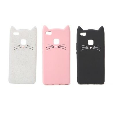 Silicone Soft Cat 3D Moustache Phone Case Back Cover For Huawei P9 Lite/G9 Lite