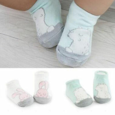 Hot Toddler Unisex Baby Girls Boys Anti-Slip Cotton Socks Cute Cartoon US
