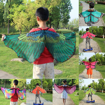 Kids Child Fairy Butterfly Cloak Wing Shawl Stole Festival Party Costume Gifts