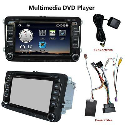 "7"" 1080P DVD Player GPS Navigation Bluetooth Radio 2 Din für VW Volkswagen"