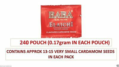 Baba Elaichi Silver Coated Saffron Flavored Cardamom Seeds Mouth Freshner 240 pc