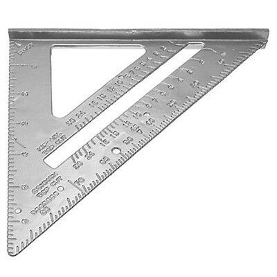 185*185*260mm Speed Protractor Miter Framing Ruler For Carpenter Silver S7X3